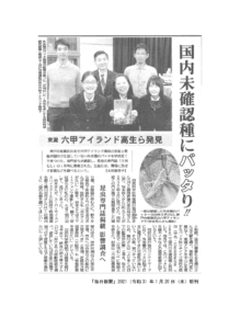 Ccondracris rosea 毎日新聞